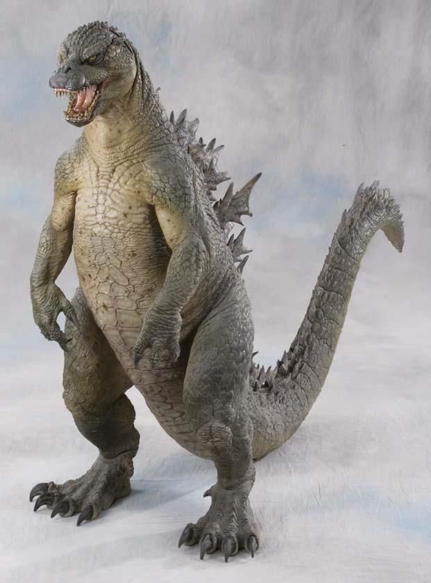 Concept art by Stan Winston (maquette, image 1) and Mark McCreery for the abandoned 1994 GODZILLA film.