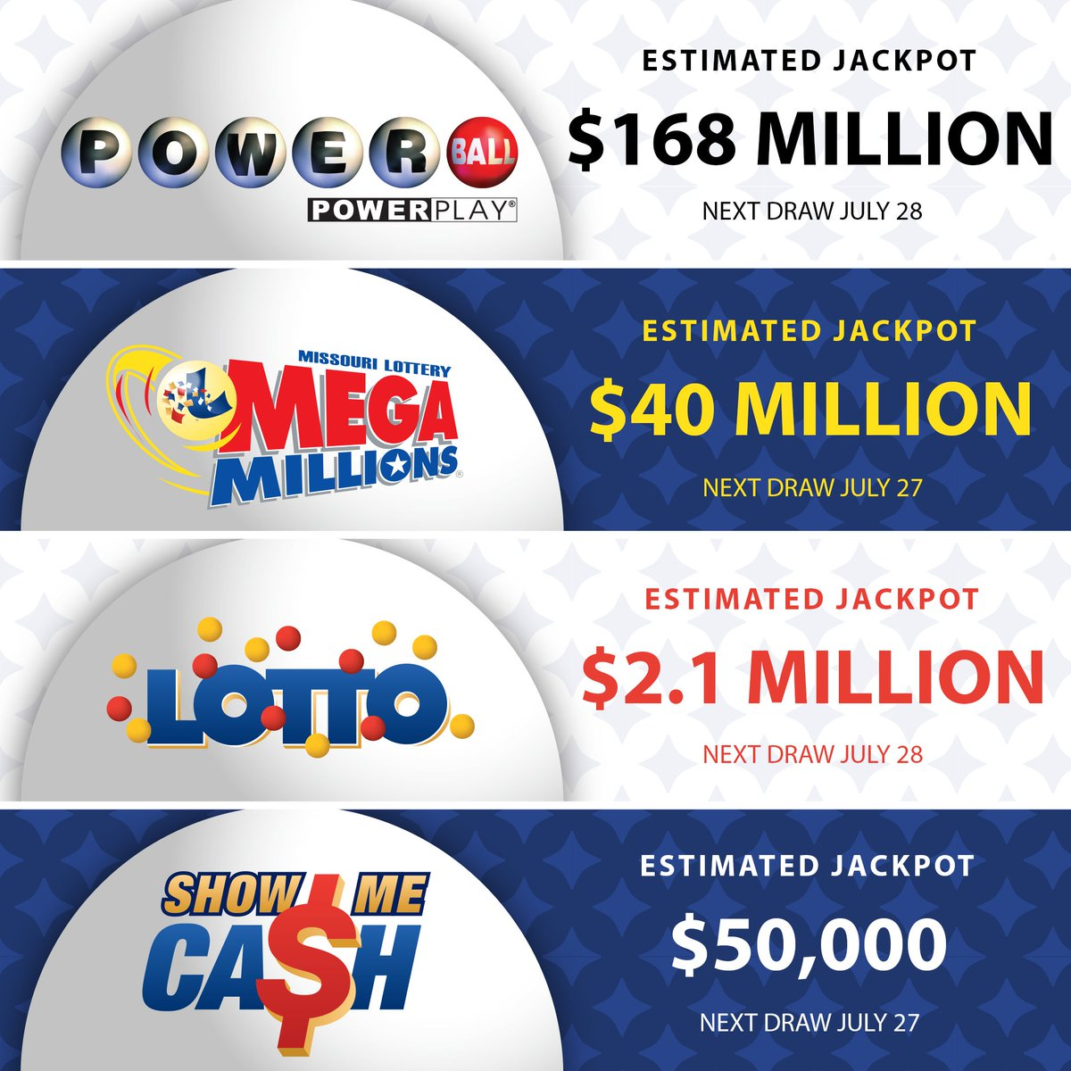 Mo Lottery On Twitter Keep An Eye Out For This Weekend S Jackpots