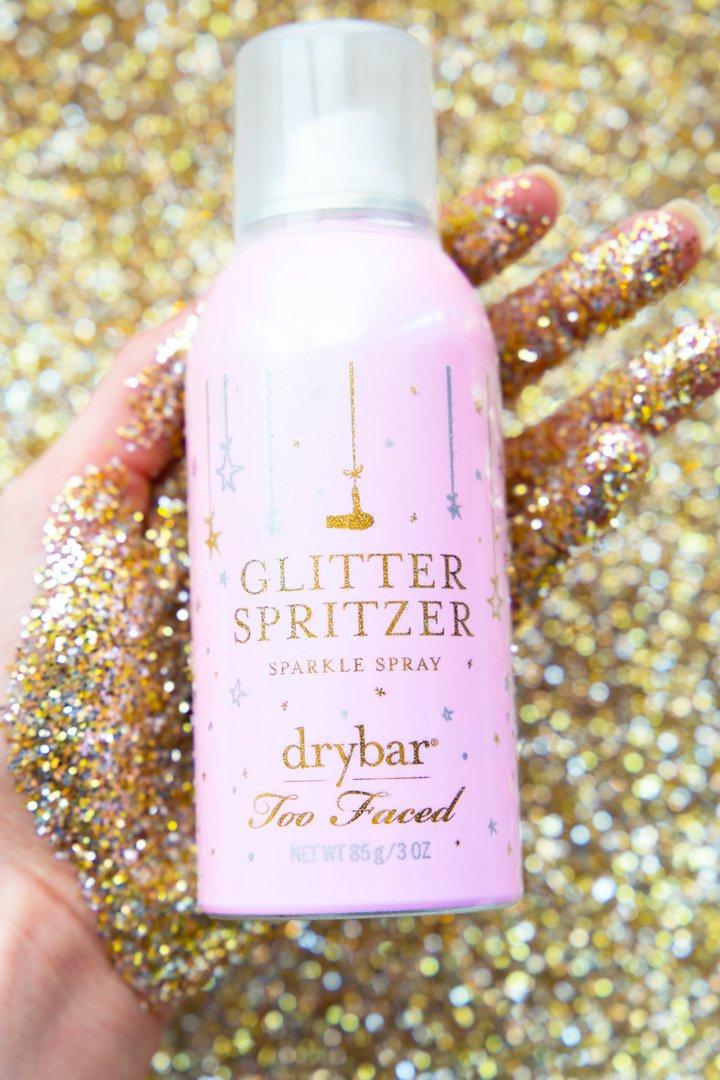 Znalezione obrazy dla zapytania Too Faced x Drybar Glitter Spritzer $20