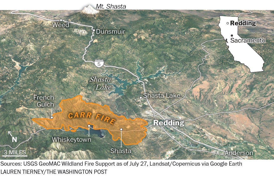 Post Graphics On Twitter The Carr Fire In Northern California Has