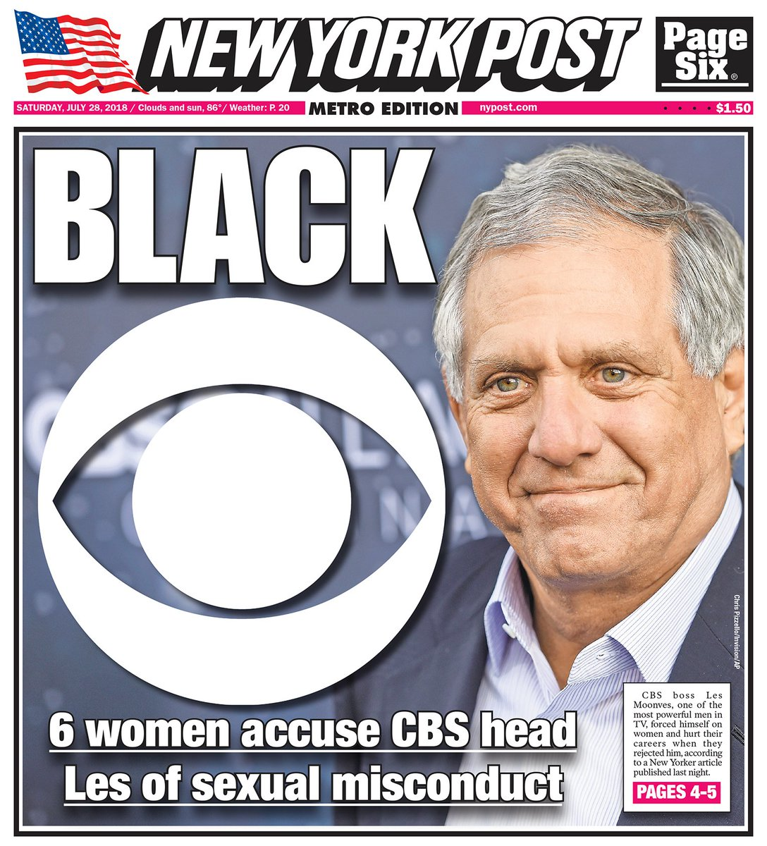 MOONVES STARS IN OWN DRAMA