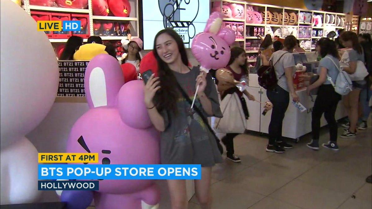Fans of Korean boy band @BTS_twt flocking to new pop-up shop along Hollywood Boulevard https://t.co/gPYcFh02ot