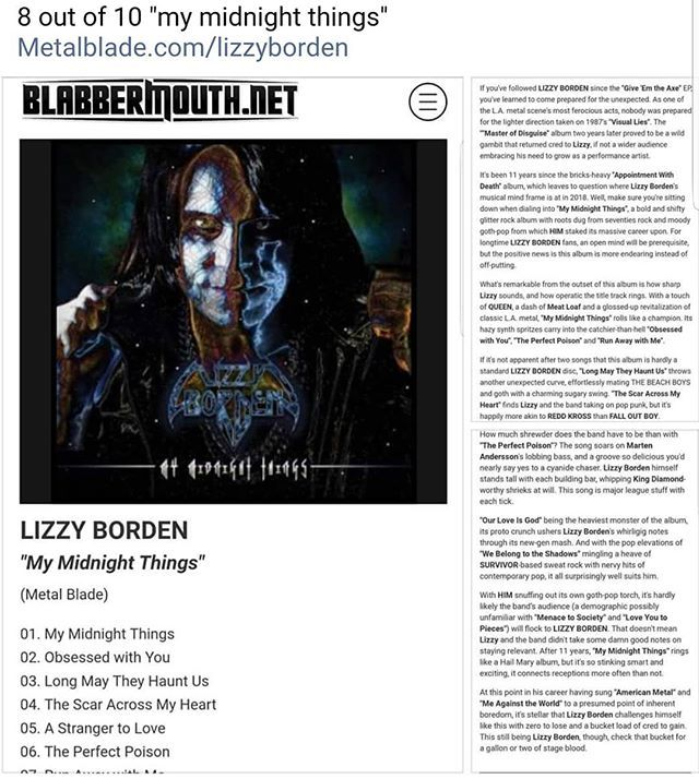 Lizzy Borden (Official) on Twitter: