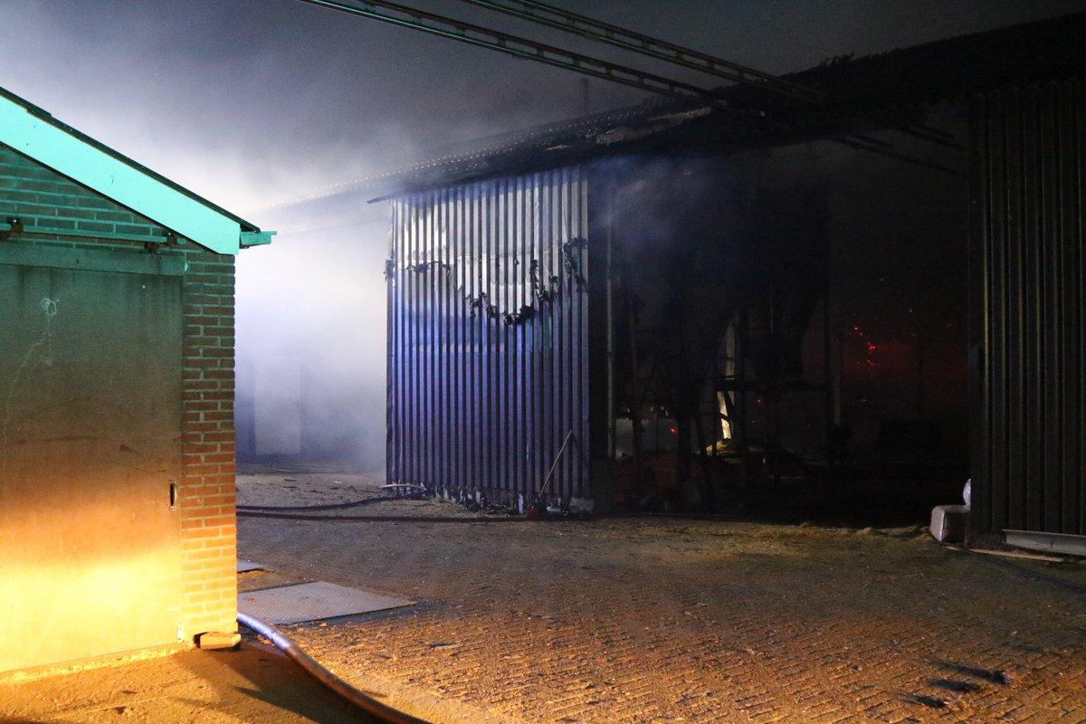 De Schuur Kootwijkerbroek : Barneveld vuurpijl veroorzaakt brand in een schuur