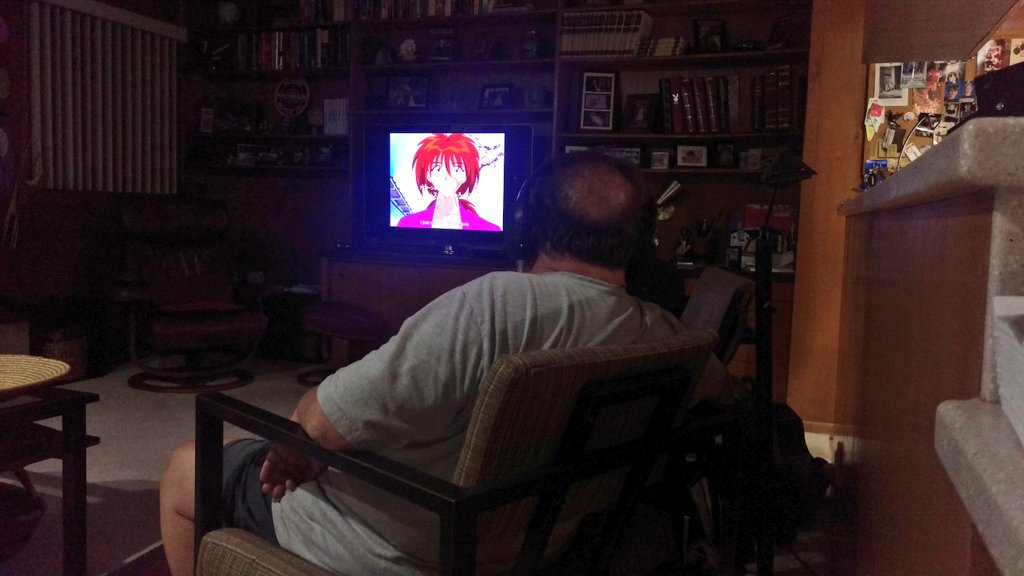 That moment when you walk in and see your dad watching Rurouni Kenshin. #animelife