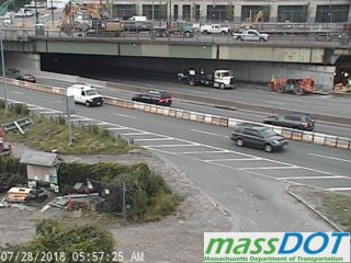 Matraffic Alert M Pike I 90 Lane Restrictions Are In Place Both Ways With The Commavebridge Project Lanes Closest To This Mdot Camera Heading