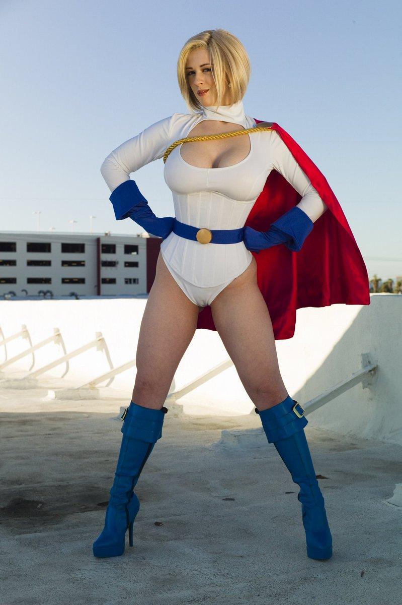 Larkin love as power girl cosplay matchless message