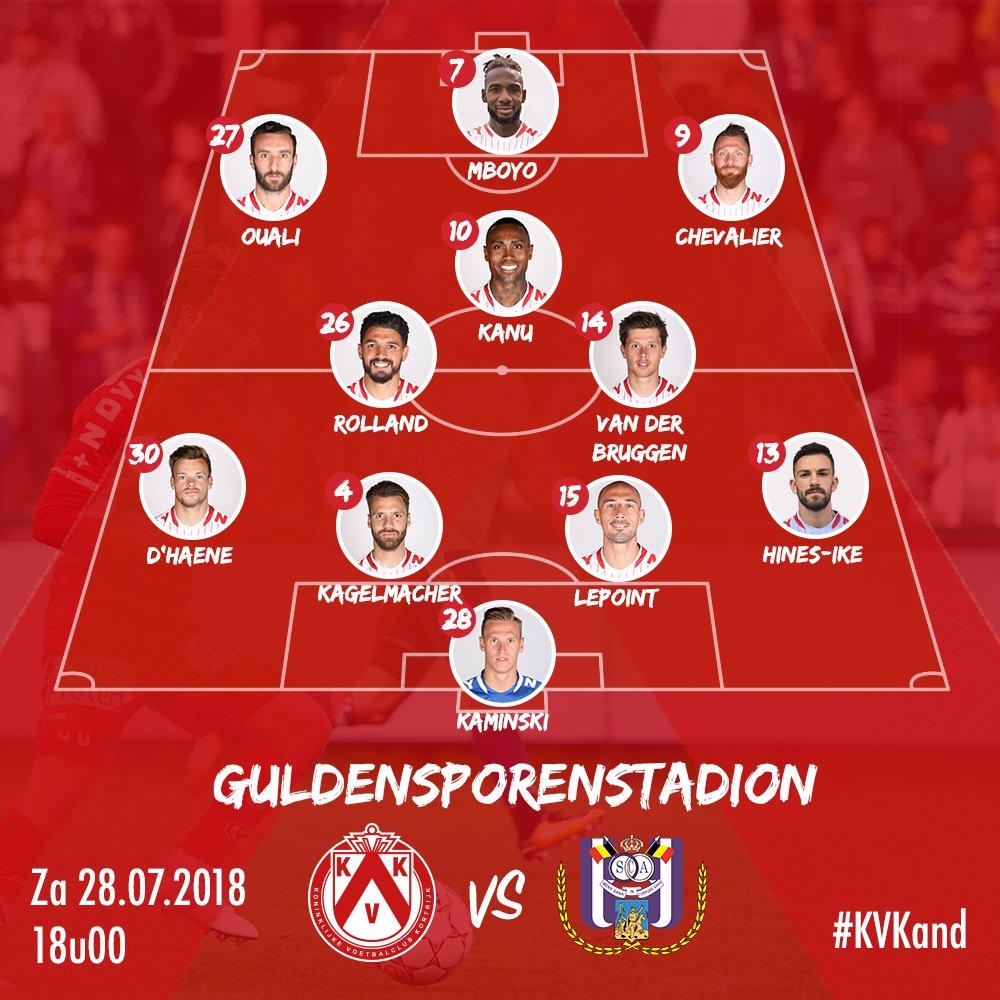 KV Kortrijk vs Anderlecht Jupiler League 2018/2019