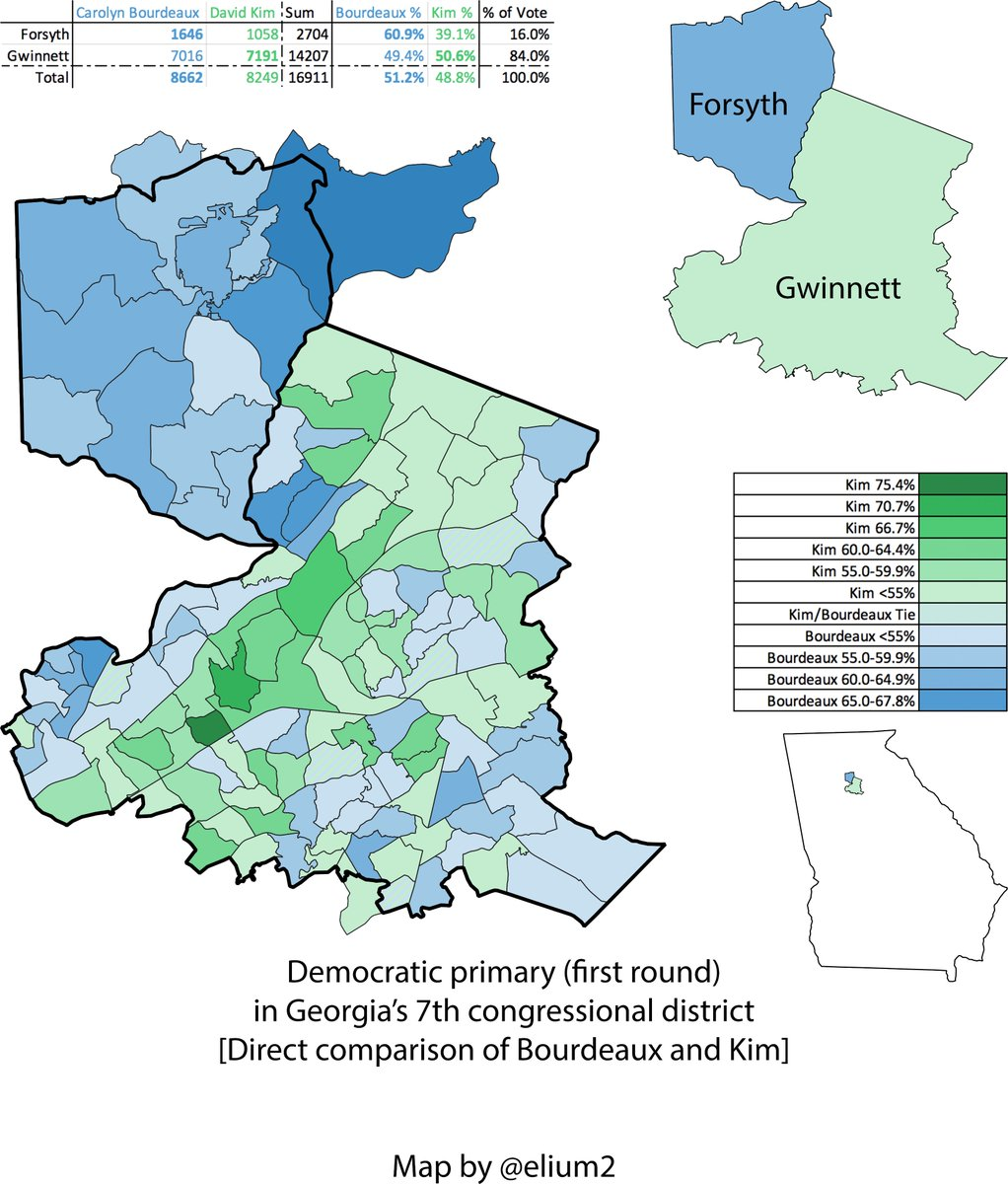Map Of Georgia District 6.Eli On Twitter I Updated My Ga 07 Map With The Certified Results