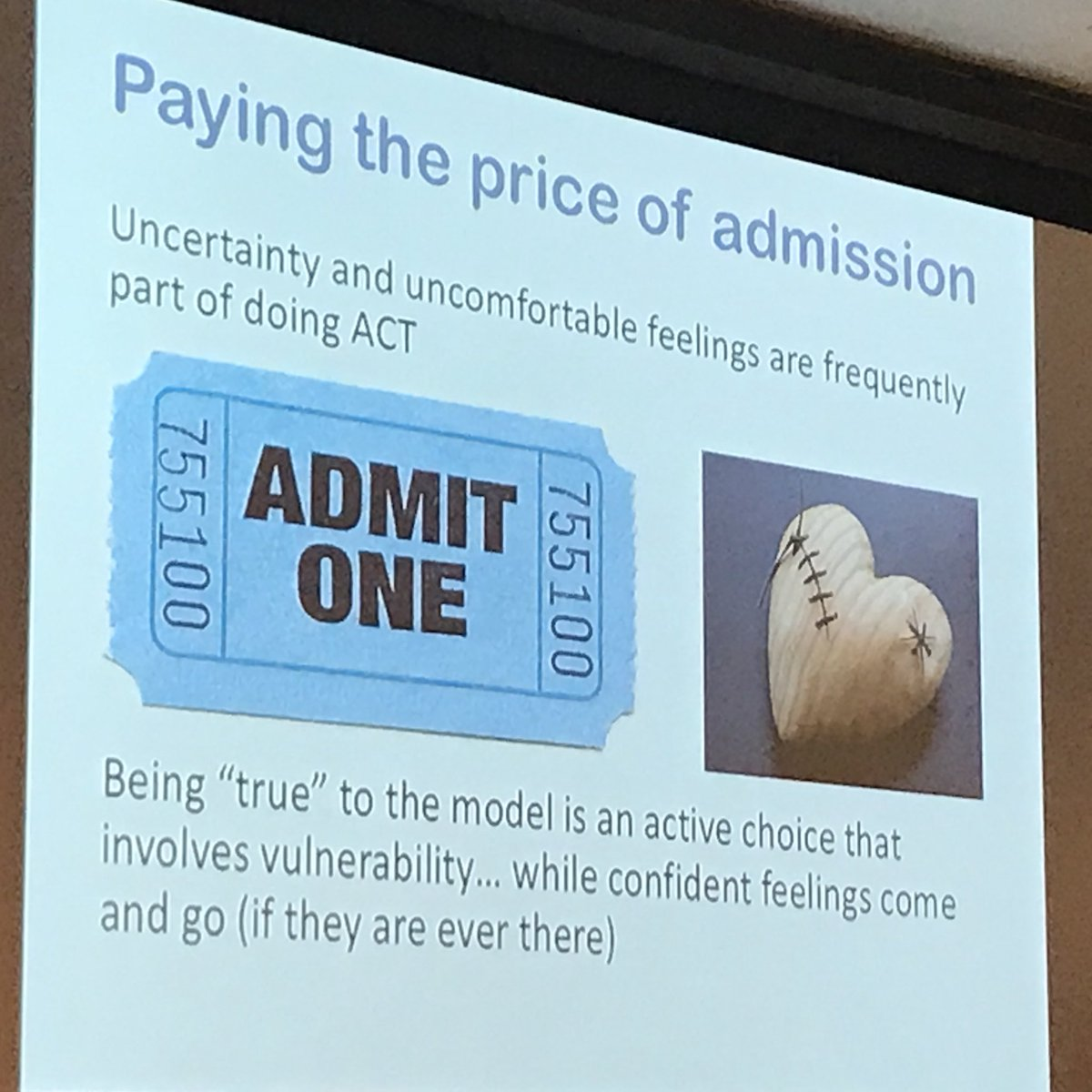 what is an act of admission