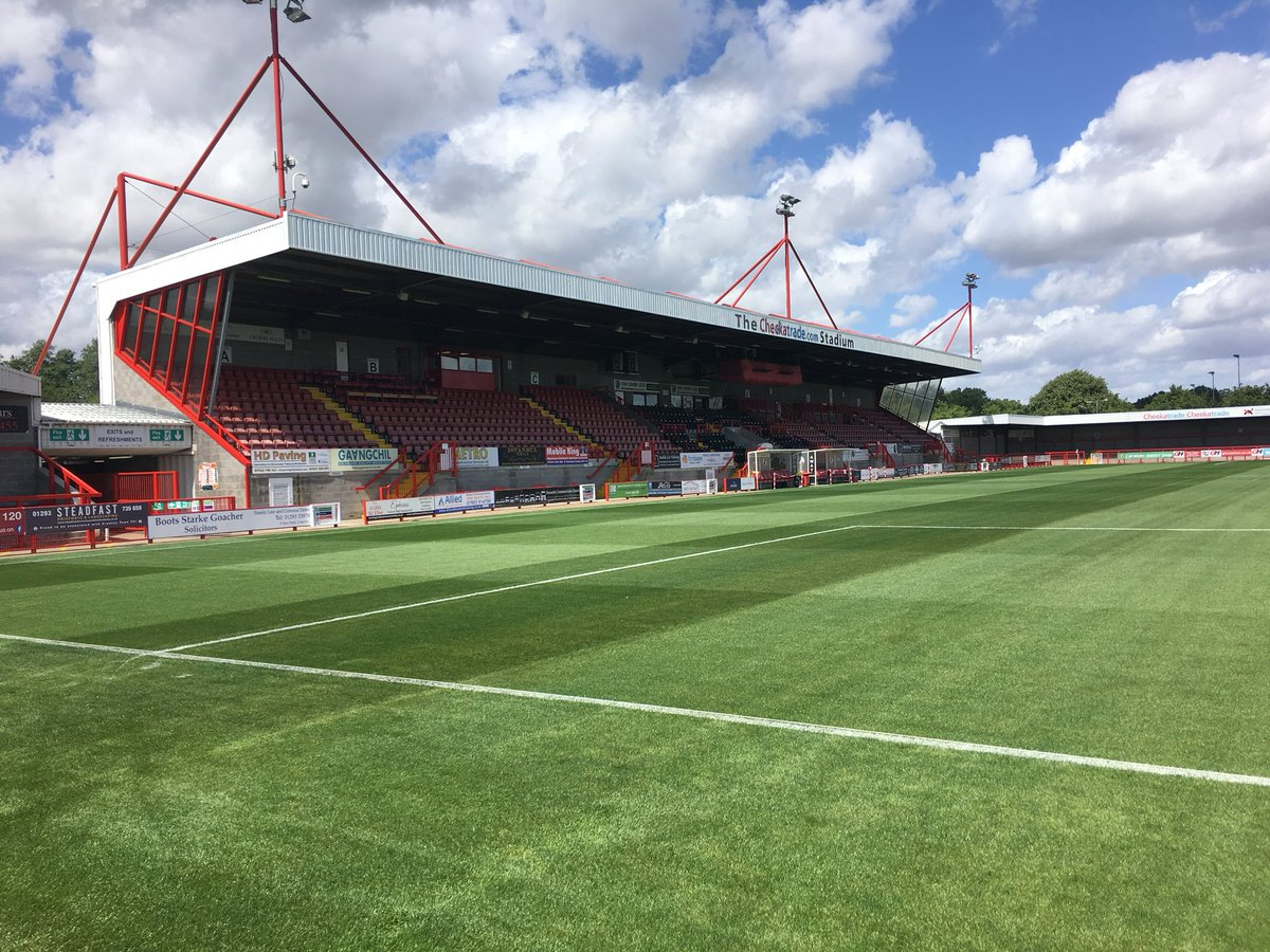 """Crawley Town FC on Twitter: """"⛳️   Our new pitch is looking ..."""
