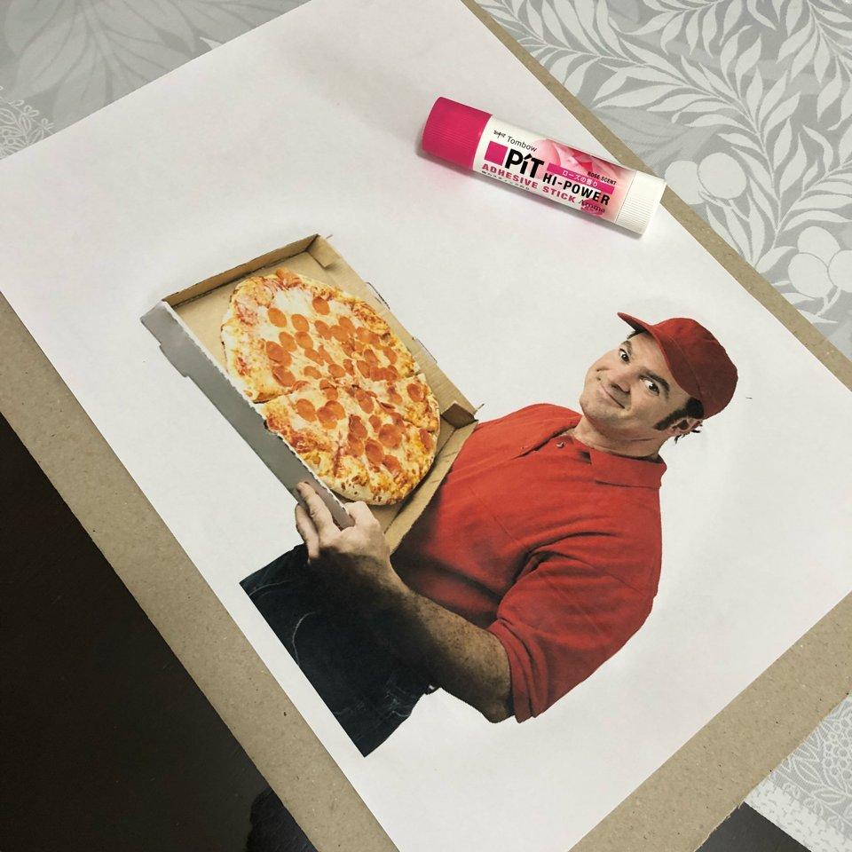 雨で暇だったからいつでもピザ頼んだ気分になれるキット作った