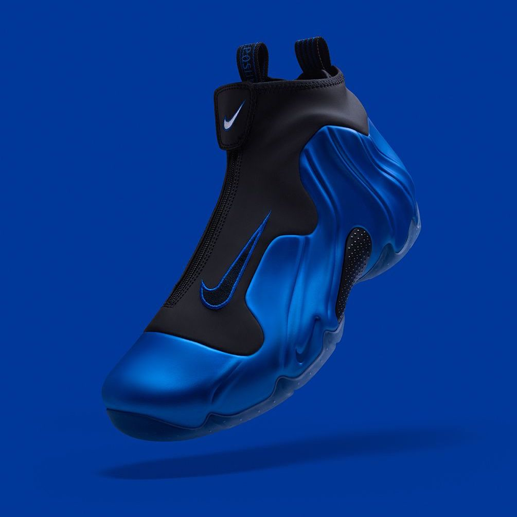 online store 85605 c4566 foam inspired air flightposite one dark neon royal available now in store  and online
