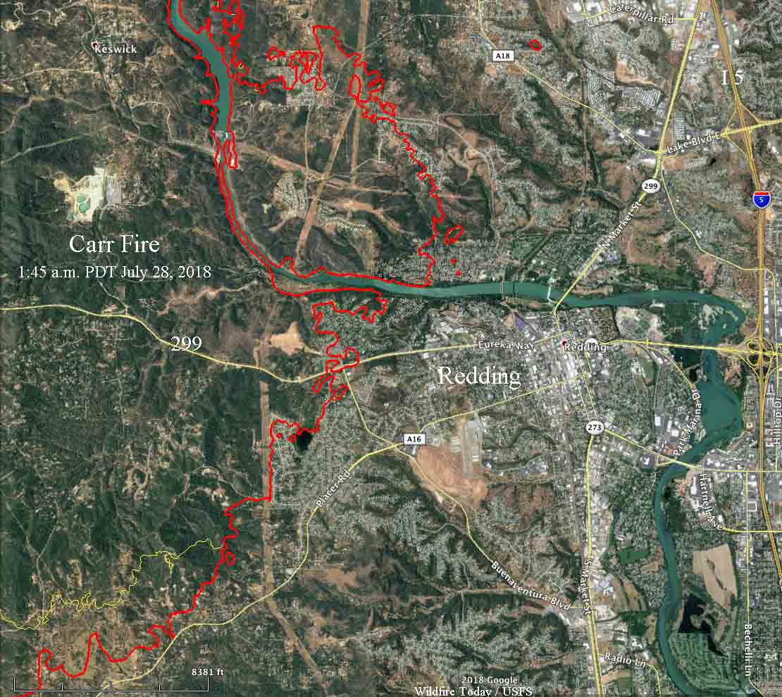 Wildfire Today On Twitter Carr Fire More Than Doubles In Size