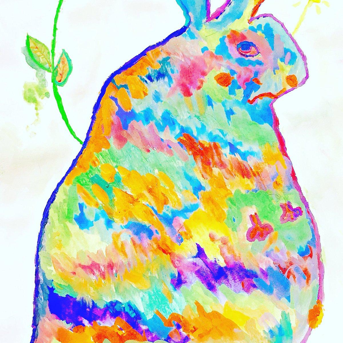 test ツイッターメディア - 100均で水彩絵具を買うことになったから全力で消費した結果  #100均 #ダイソー #DAISO #絵具 #水彩絵具 #水彩画 #ネットで見つけた絵にメンヘラ配色しただけ #お花かわいい #魔界のパンジー #作成時間はコードブルー特別編と同タイム https://t.co/GoI9aWToml