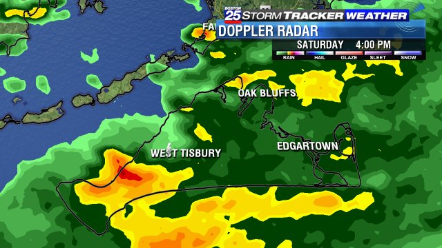 Lightning picked up on doppler radar near #WestTisbury #MV #Boston25