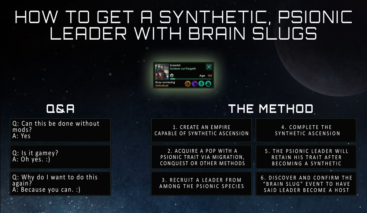 Stellaris On Twitter Who Wants A Psionic Synthetic Leader With