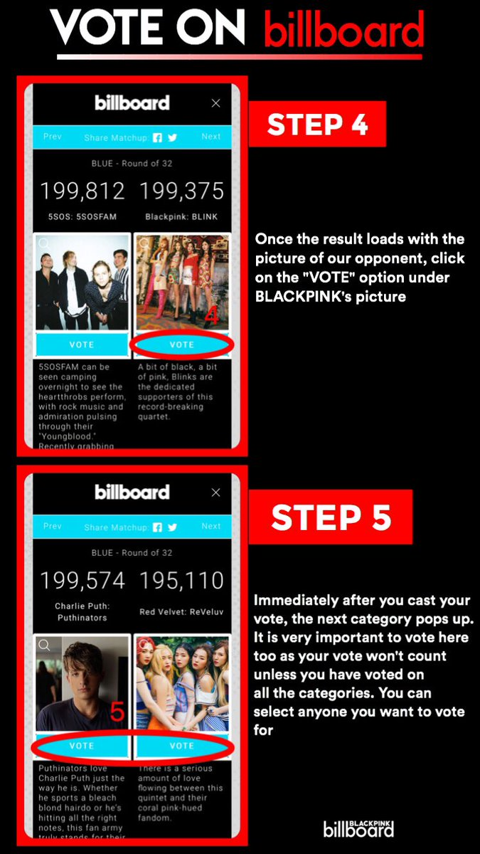 Blackpink Billboard On Twitter A Tutorial On How To Vote For Blackpink On The Billboard Fan Army Face Off Please Retweet To Spread Blinks Ygofficialblink Vote Here Https T Co Feo0vssh4a Https T Co Y7dfqbwz23