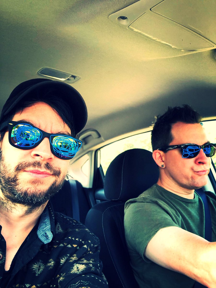 Our flights were cancelled yesterday due to weather. With no flights left sometimes you just got to hop in a rental and get it done. Philly to Bangor here we come. 300 miles into a 540 mile trip! See you all soon dammit! @SamChevelle @PeteLoeffler @wfconcerts #impactmusicfestival