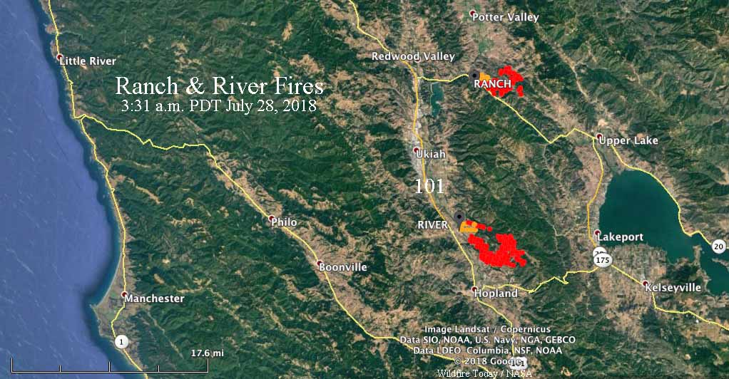 Wildfire Today On Twitter Ranchfire And Riverfire Burn