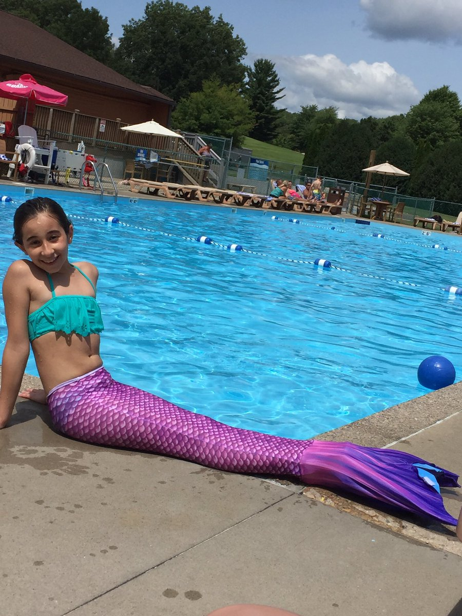 No Monofin Play Tailor Mermaid Tail Swimmable Costume Swimsuit for Girls Swimming