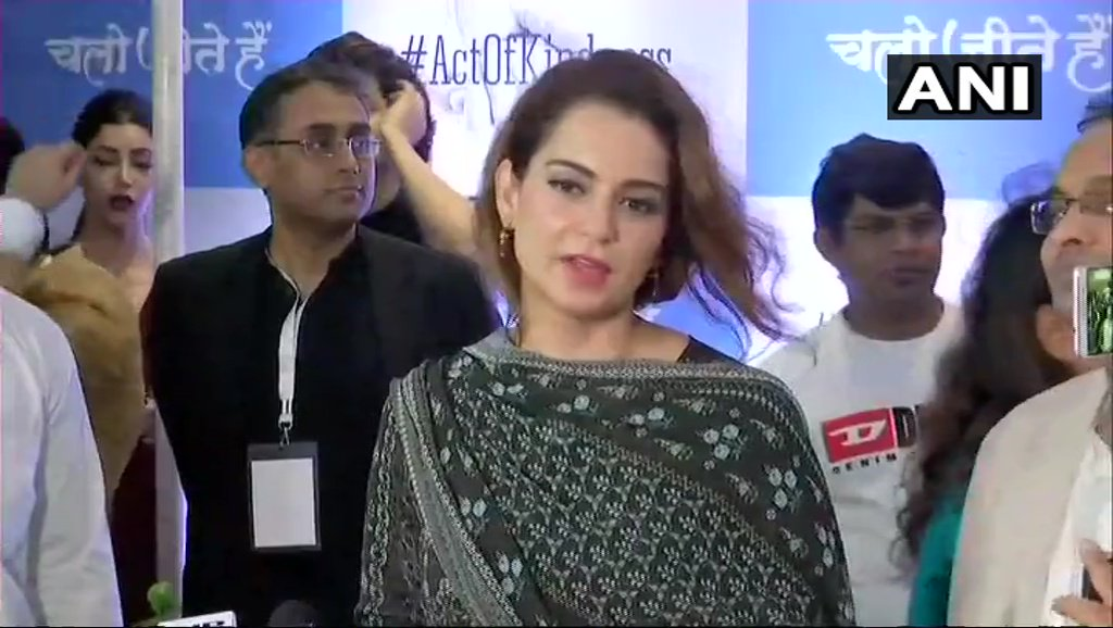 Narendra Modi is the most deserving candidate &rightful leader of a democracy. He is not in this position because of his parents, he has worked hard to be here. Yes, he should come to power next year as 5 years are not enough to pull a country out of pit: Kangana Ranaut in Mumbai
