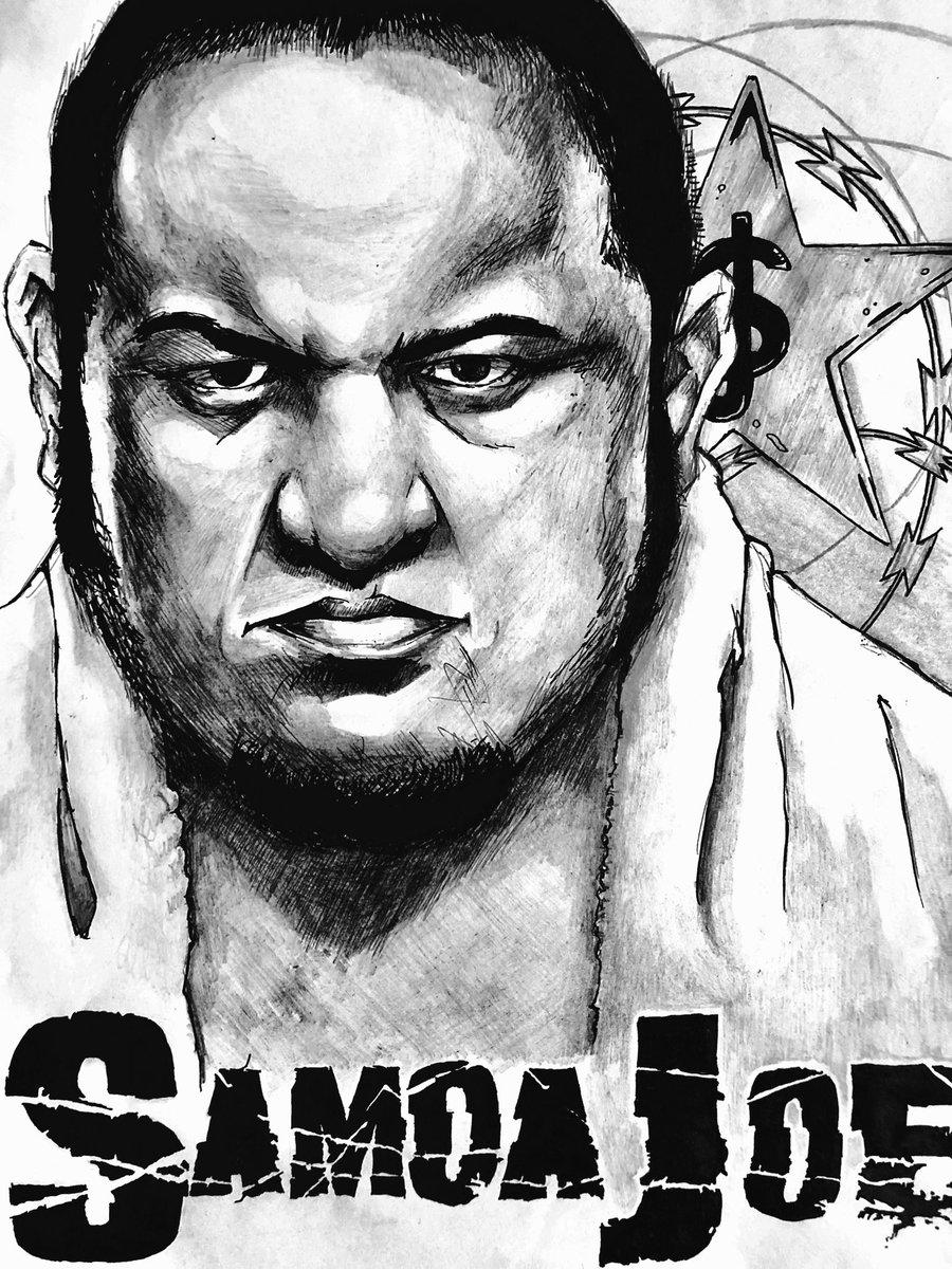 @SamoaJoe is the baddest man on the #SmackdownLive roster, and I'm pretty sure the #coquinaclutch can #sleep anybody fam #sketchmastercj @WWE @WWEUniverse @WWEgames #samoajoe