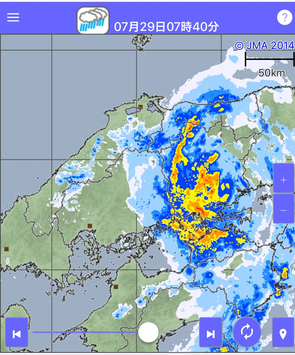 福山市天気雨雲レーダー