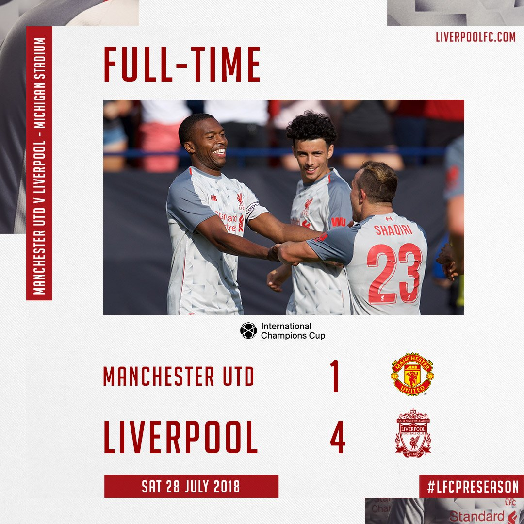 Liverpool Fc Usa On Twitter Liverpool 4 1 Man United Not A Bad Way To End Our Time In The States Lfcpreseason Icc2018