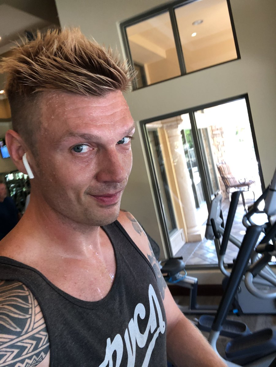 """nick carter on twitter: """"got a quick workout in before"""