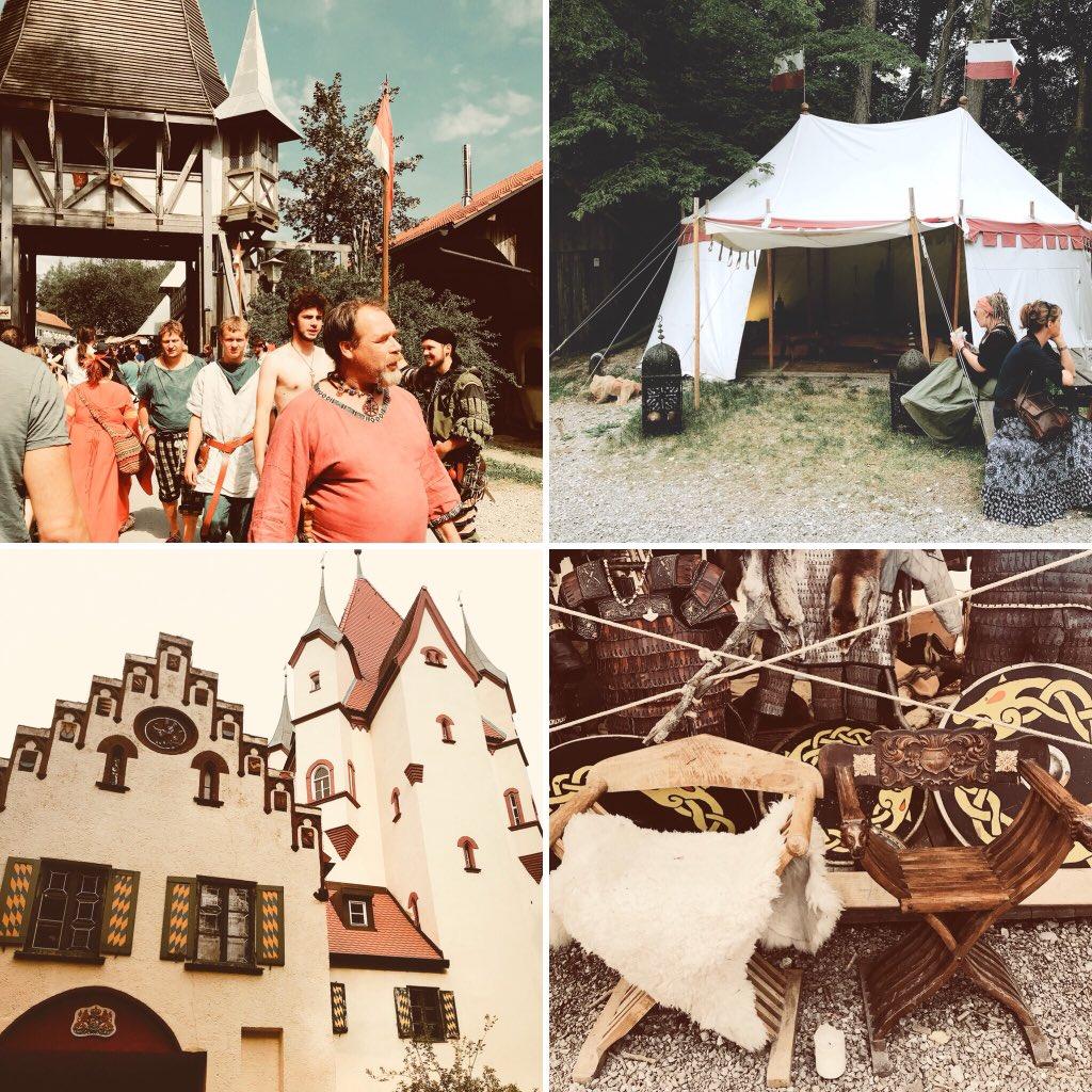 ドイツ、カルテンベルグにて毎年行われている騎士祭りに取材と趣味をかねて来ています。中世の暮らしを再現した生活や騎士たちによる槍試合が見られるお祭りで、村人もお客さんもご飯もお土産も何もかもが中世で、ファンタジー好きの我々大興奮。
