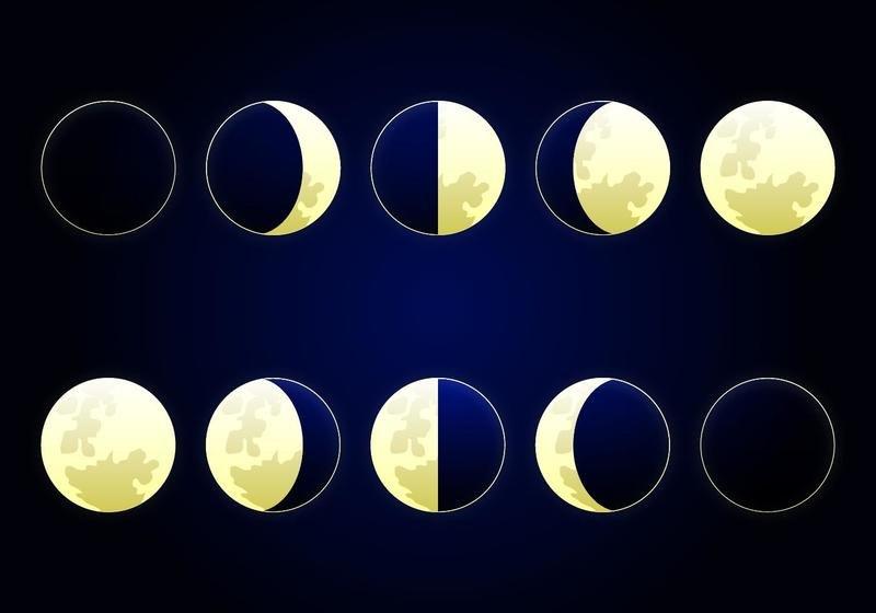 Новогодней открытки, новолуние рост луны полнолуние старение луны в картинках