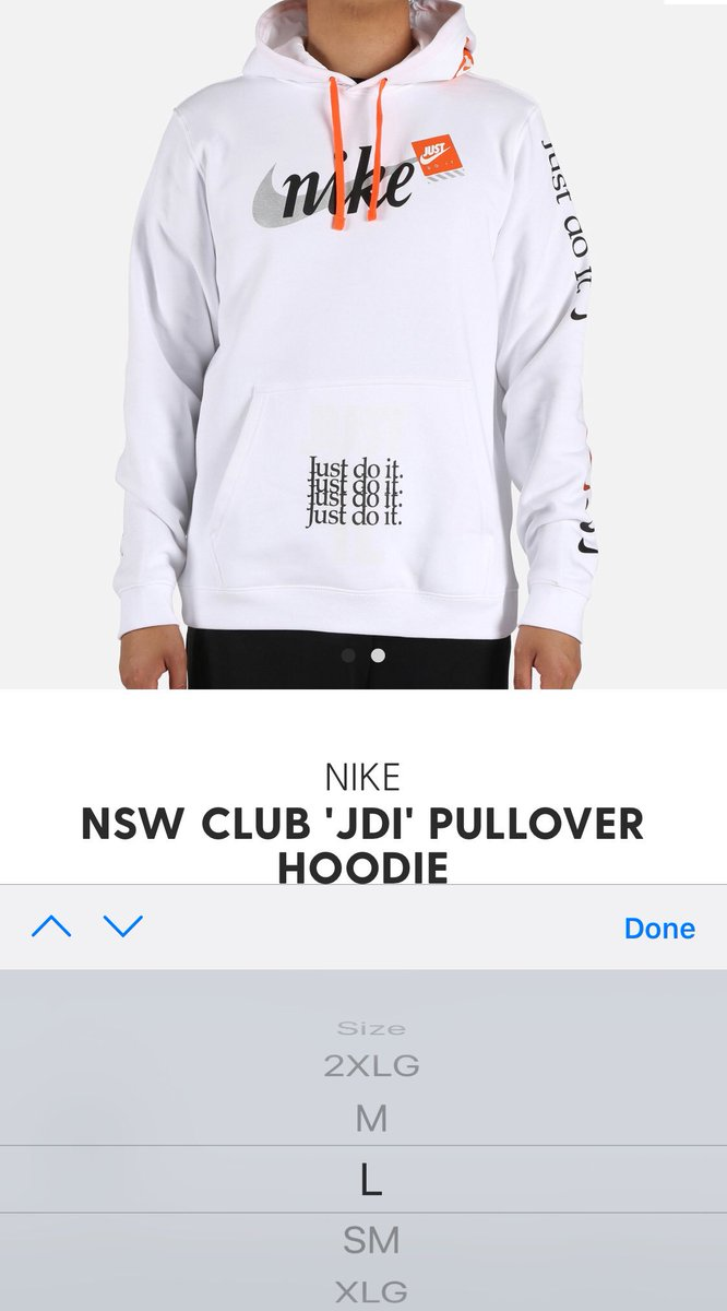 nike jdi club just do it pullover hoodie