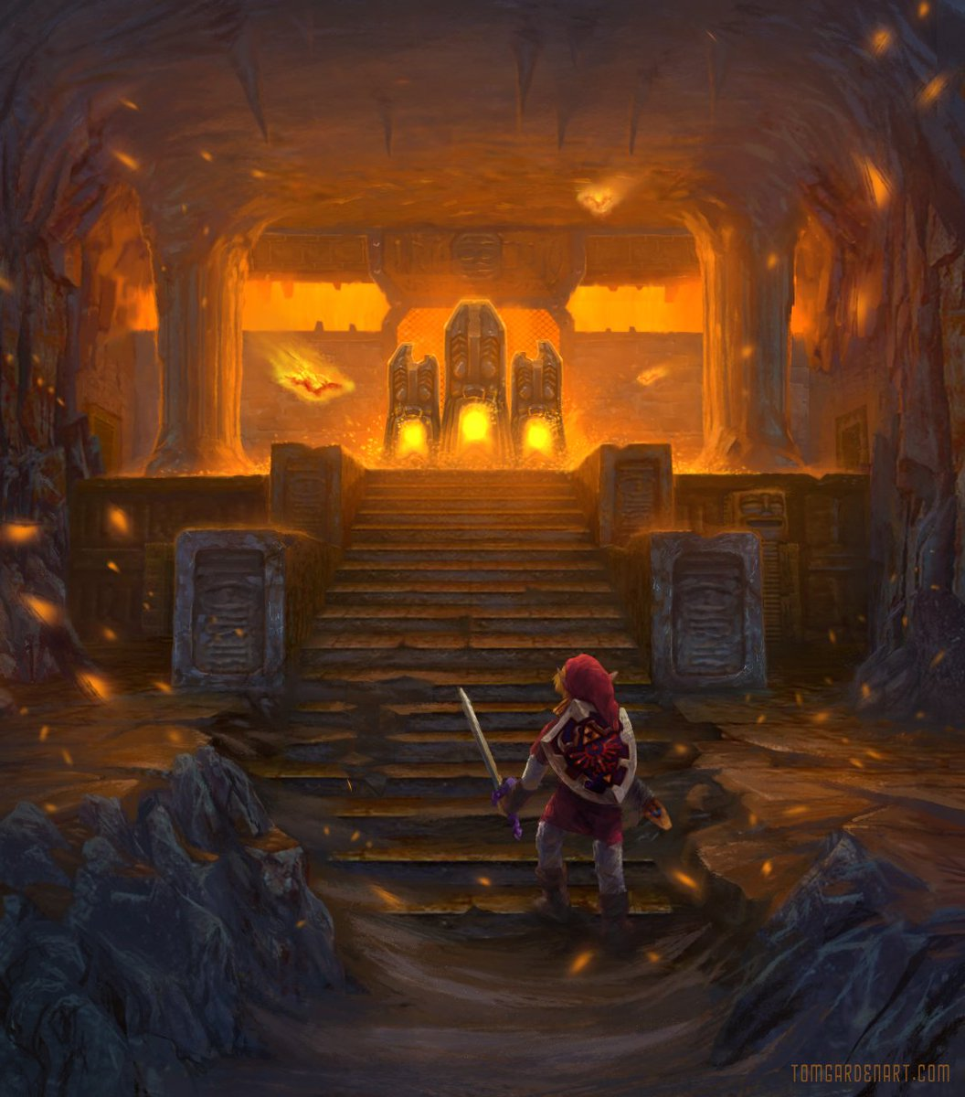 Fire Temple by Tom Garden : zelda