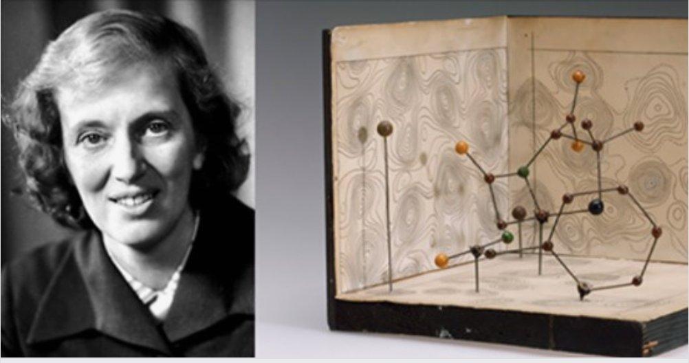 Recordamos a Dorothy Hodgkin, que en 1945 determinó la estructura en 3D de la penicilina, culminando así la carrera científica iniciada por Fleming. Ganó el Nobel de Química y además fue tutora de Margaret Thatcher. https://t.co/Mfz8THhs4t