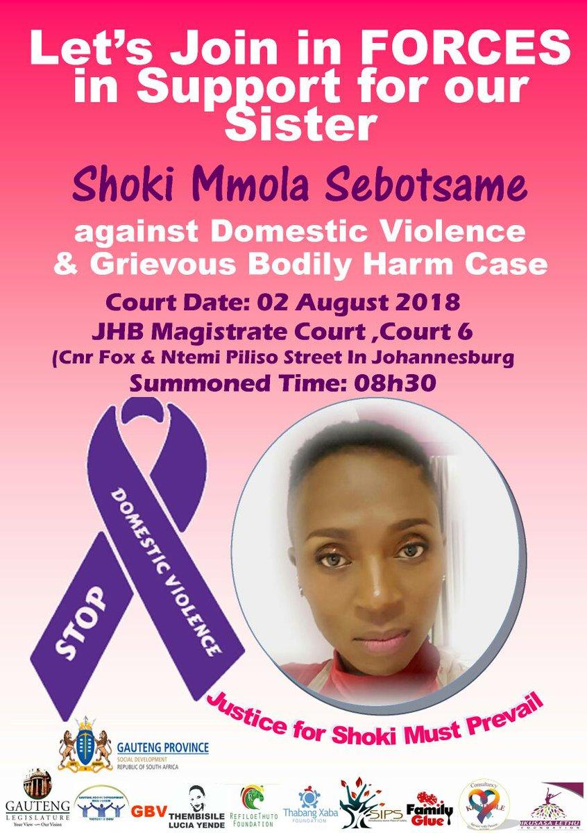 Shoki Sebotsane talks out about her abusive ex