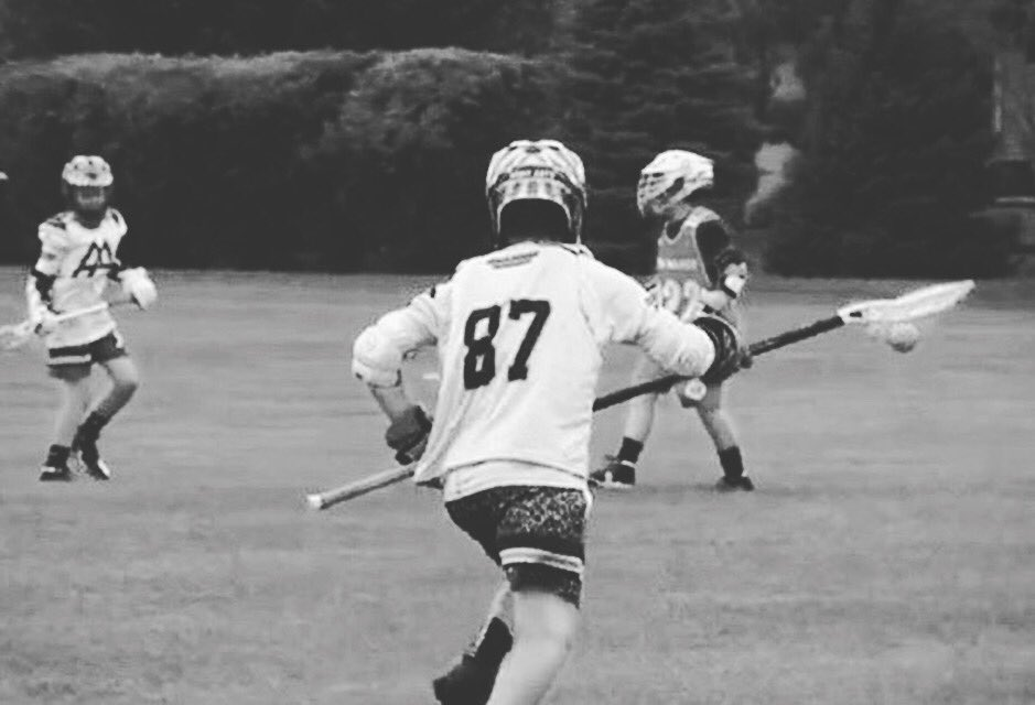 Sawyer Wright a U12 #ArmyAntLax Defenseman pushing the ball up the field vs Minnesota Select At @LacrosseAmerica 4 ⭐️ Classic in Naperville, IL #CoalitionLaxFamily #CoalitionLax #Lacrosse #MiLax  #TravelLacrosse #MittenLax