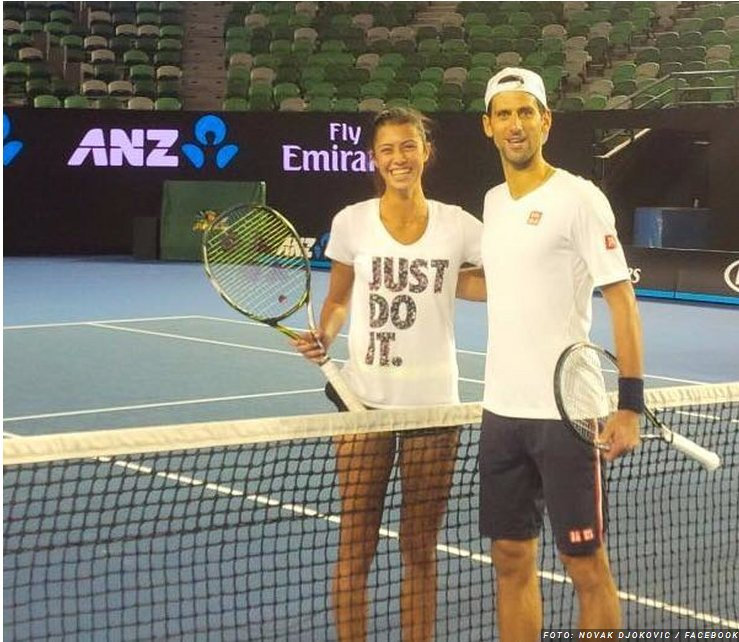 C Kristjansdottir On Twitter 2016 On The Eve Of The Australian Open Novak Djokovic Held A Joint Training Session With One Of Our Most Talented Players In Melbourne Olga Danilovic And