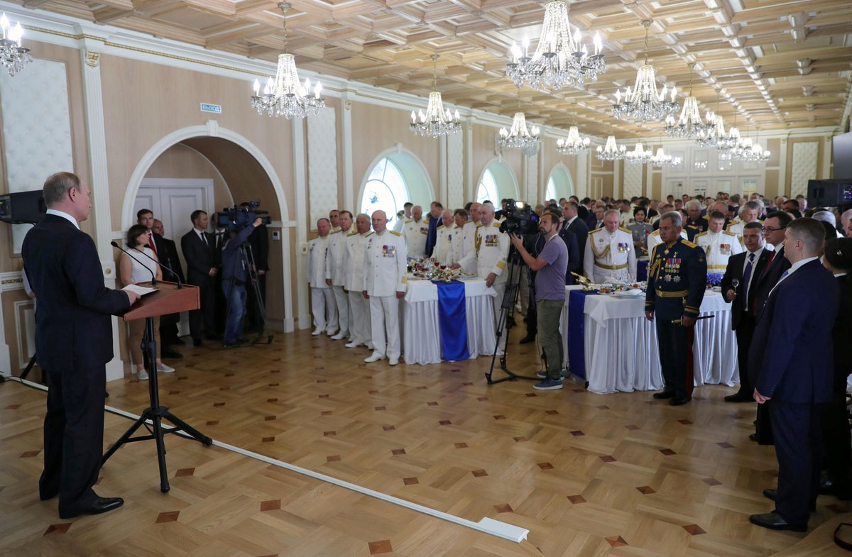 An official reception to mark Navy Day was held at the Admiralty building bit.ly/2vcfA1a