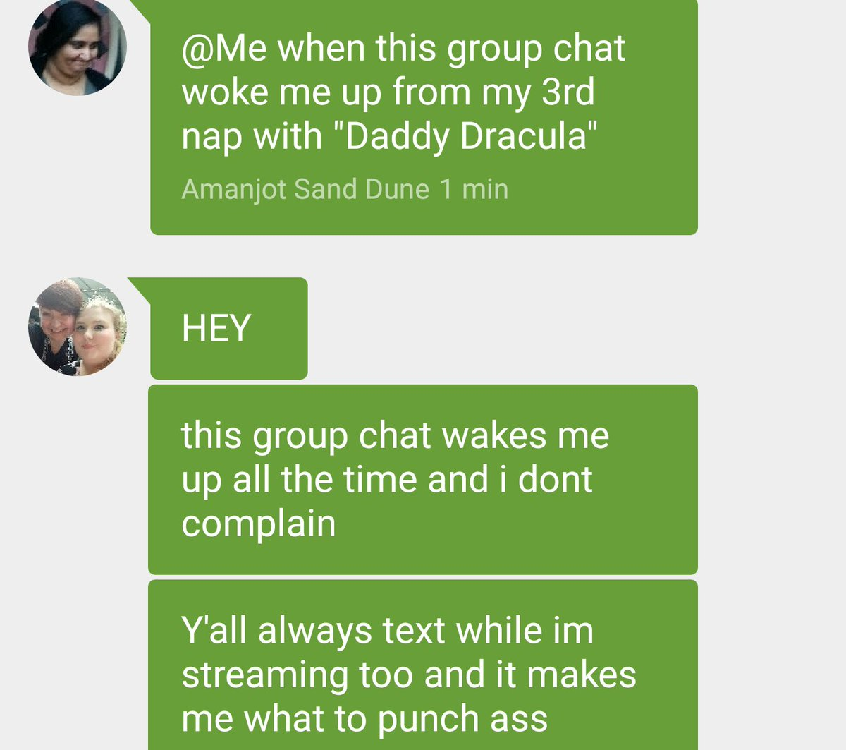 Continuation of The Cursed Group Chat