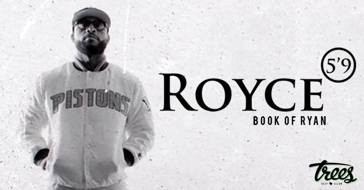 Tonight @RoyceDa59 brings his 'Book of Ryan Tour' live! 🚪: 8PM 🔈: 9PM 🎫: ticketf.ly/2Kd15Uc