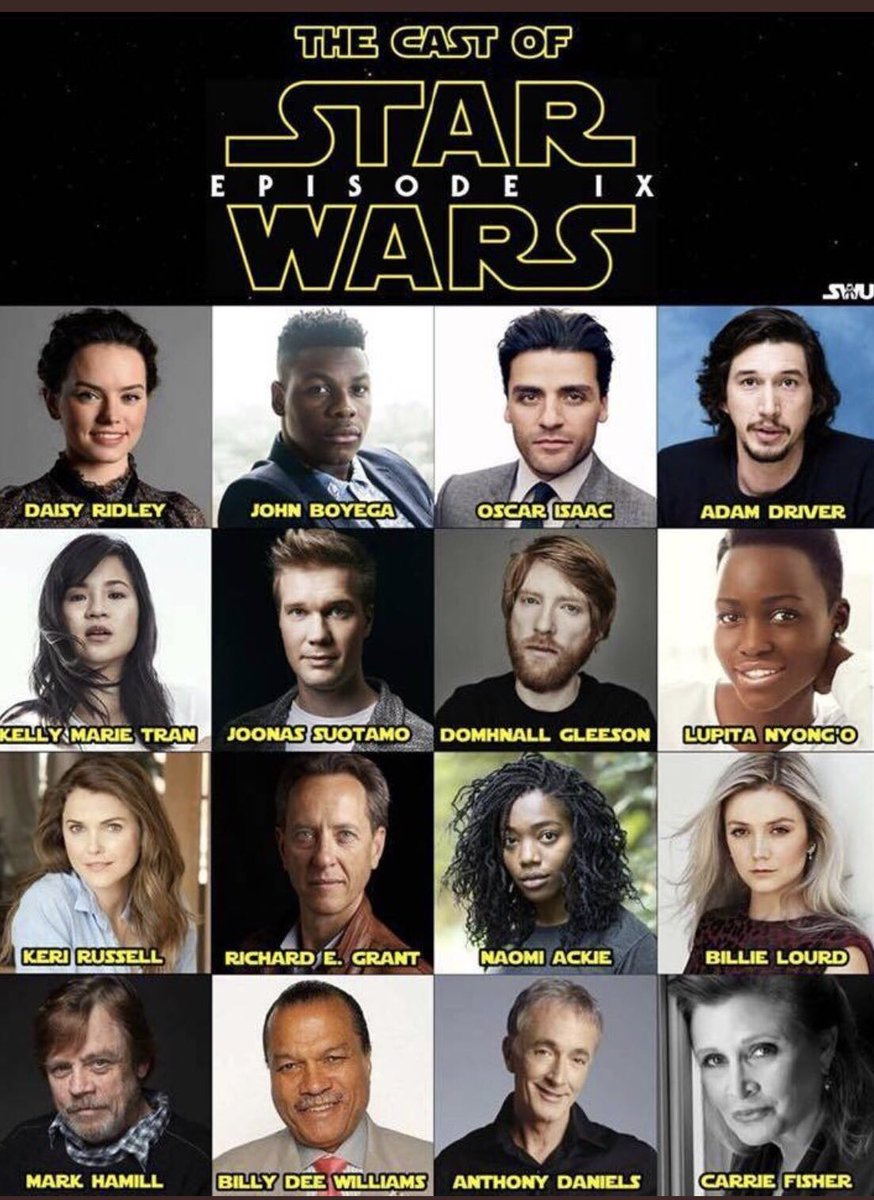 cast of star wars 9