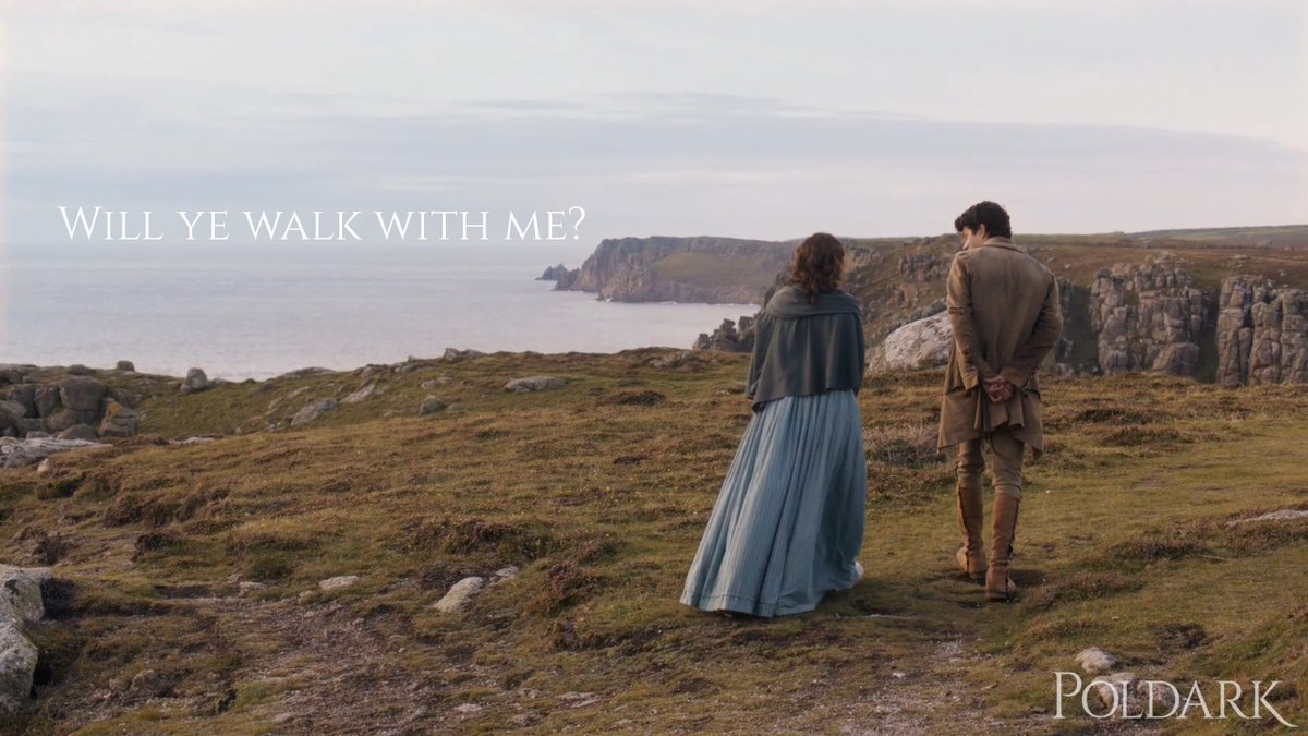 We have never been so happy about someone going on a walk in our lives. #Poldark