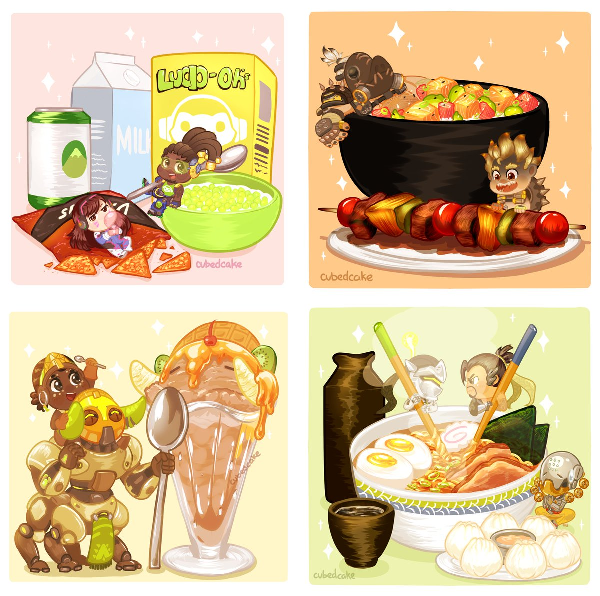 I'm still very happy with the Overwatch: Food series I did a year ago! 🍴😋 #Overwatch