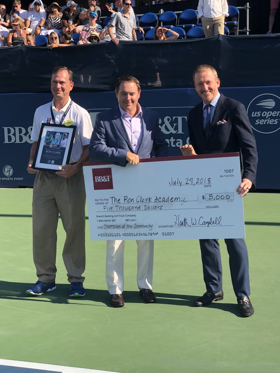 RCA was just presented with the community service award at the @BBTatlantaopen !