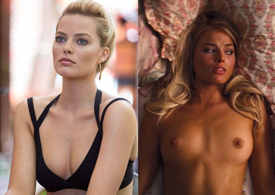 Margot Robbie Nude On The Bed