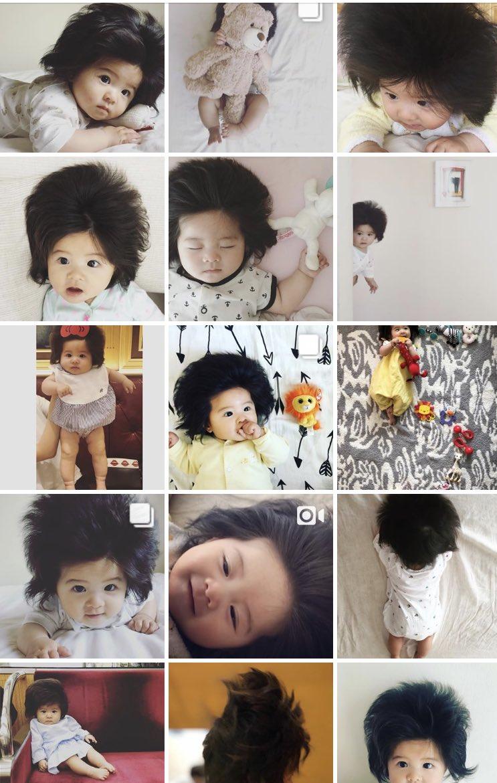 画像,Instagramで話題の生後半年の爆毛赤ちゃんとのことですが、俺は44年と14日生きてきて1秒たりともこの子の毛量を上回った瞬間がありません。おはようございま…