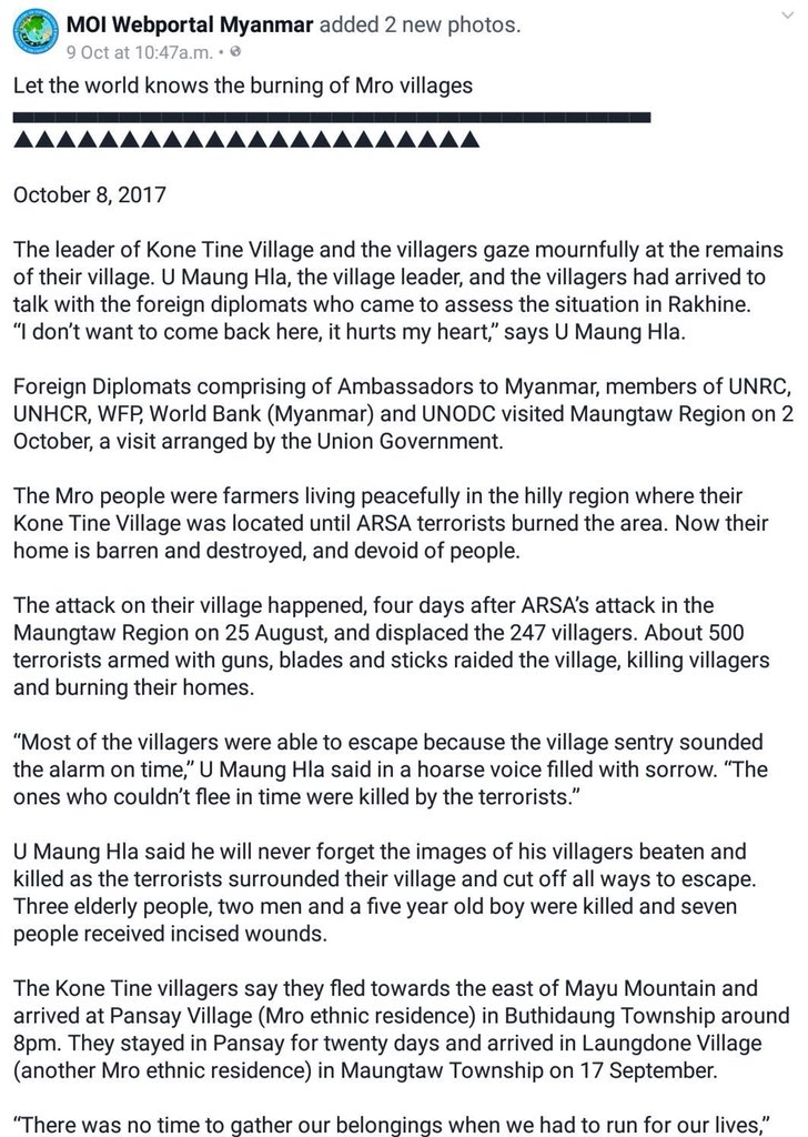 Never Forget The Images Of His Villagers Killed By ARSA Rohingya Terrorists 3 Elderly People 2 Men And A 5 Yr Old Boy Were 7 Received