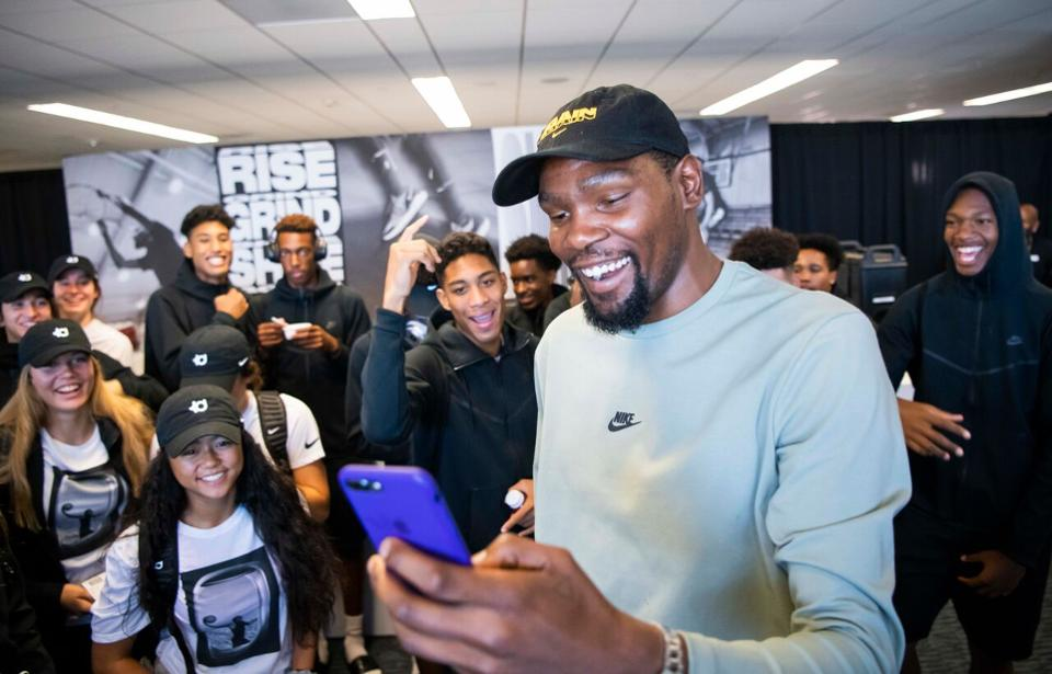bc27a6bc43c5 kevin durant surprised 80 high school kids with the trip of a lifetime