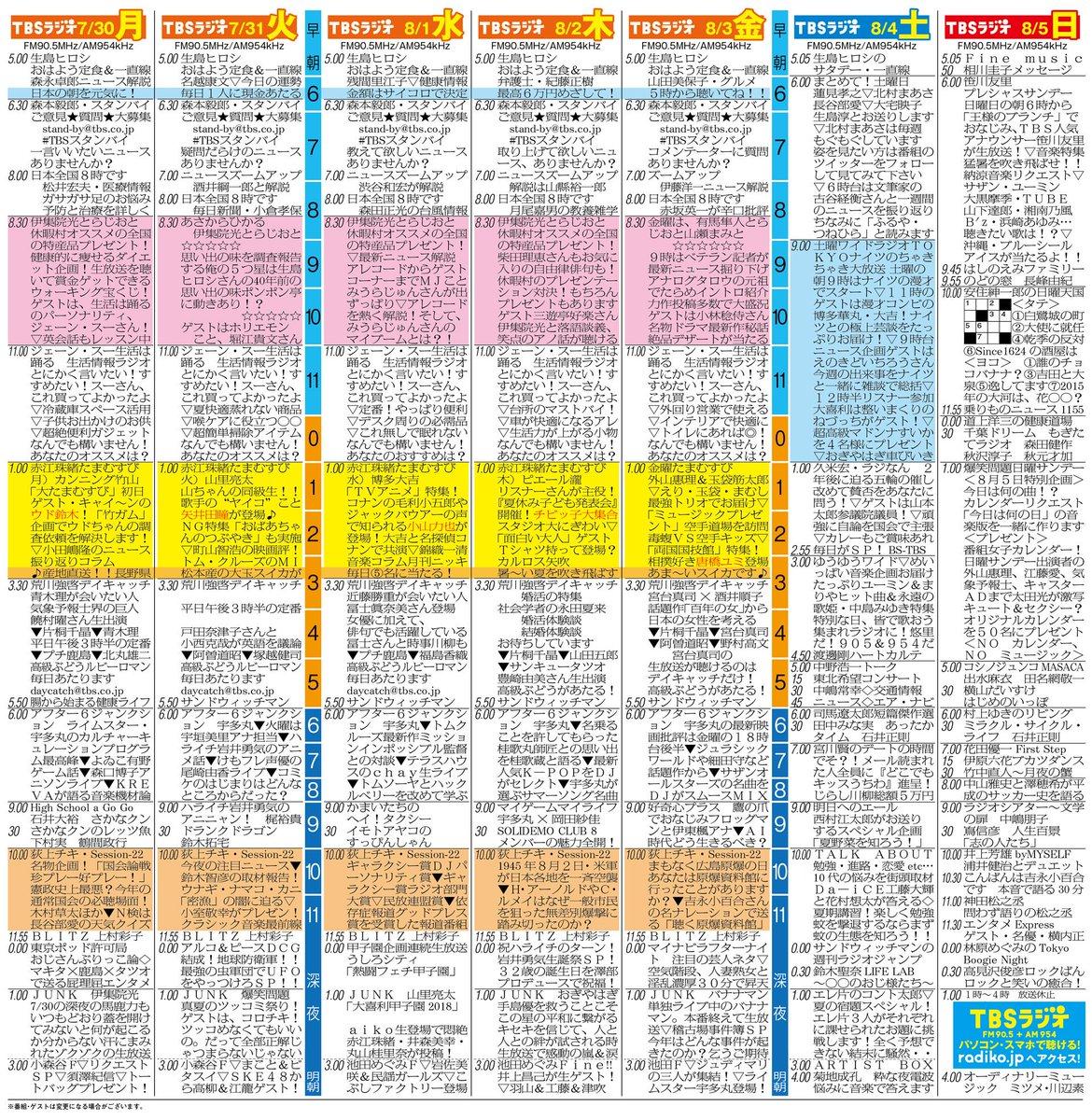 """TBSラジオ FM90.5&AM954 en Twitter: """"【TBSラジオ スペシャルウィーク ..."""